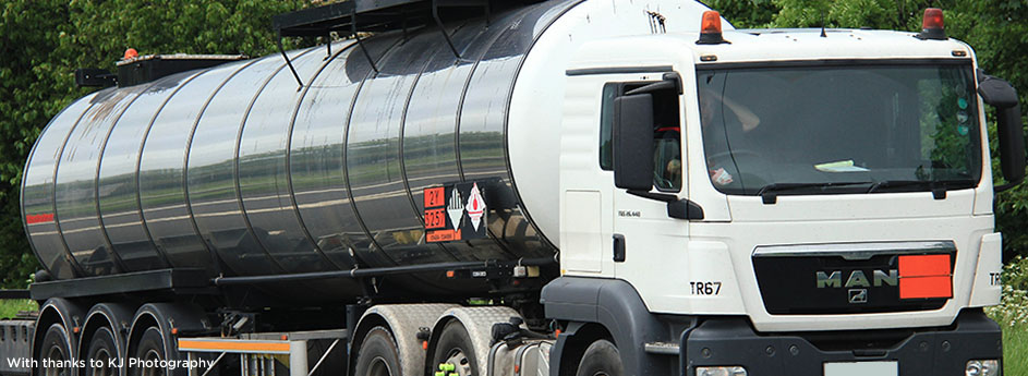 Tanker on Motorway